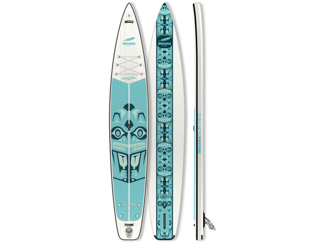 Indiana SUP 14'0 Touring LTD Inflatable SUP, white/green